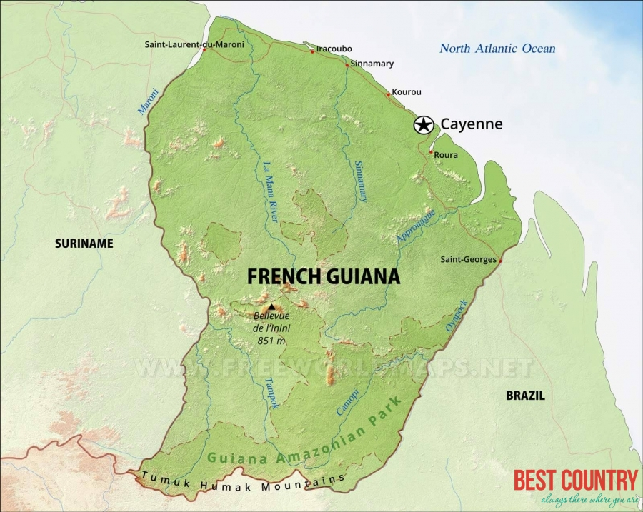 Geography of French Guiana