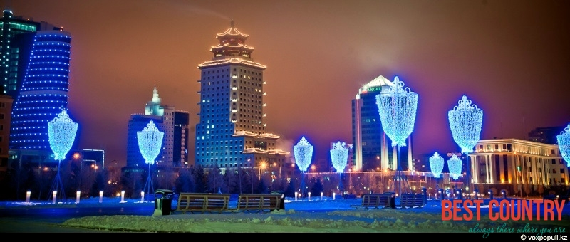 New Year celebration in Kazakhstan