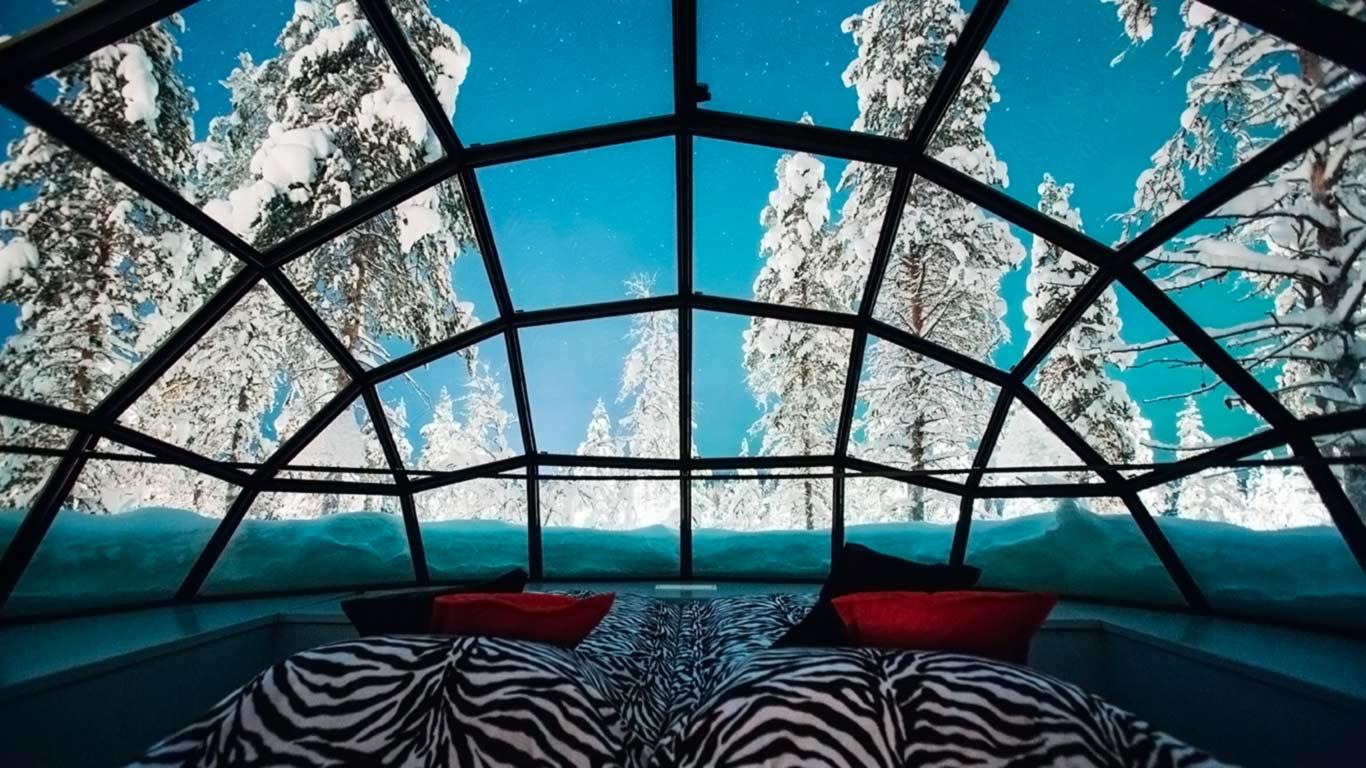 стеклянный отель Kakslauttanen