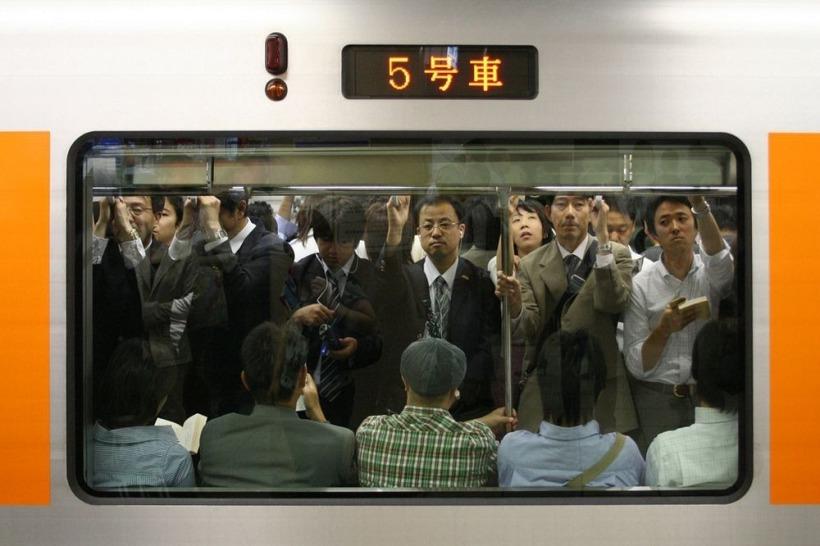 Час пик в Японии